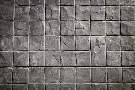 Concrete block wall white background