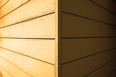 Wooden building corner Stock Photo