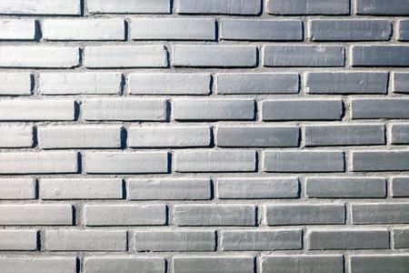 Loft styled gray brick wall Stock Photo