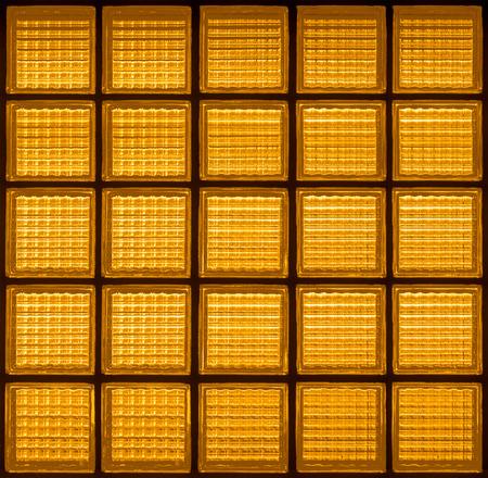 Pattern of glass block wall backgrounds , Yellow background