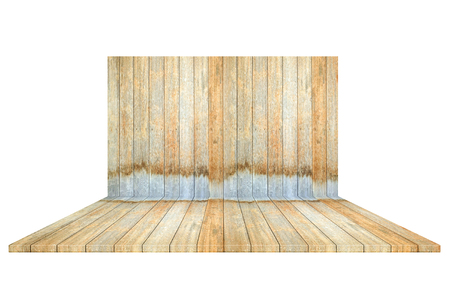 Empty wooden box isolated on white background .For put product and something