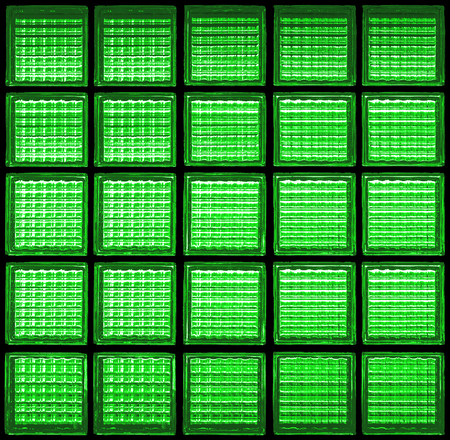 Pattern of glass block wall backgrounds , Green background