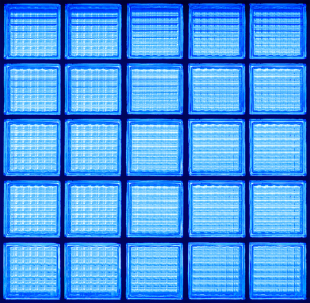 Pattern of glass block wall backgrounds , Blue background