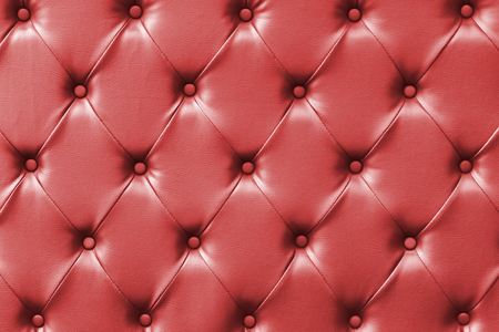 luxury buttoned red leather background Stock Photo