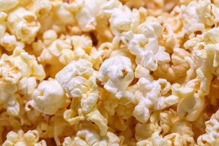 close up of popcorn texture