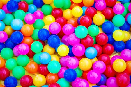 colorful plastic balls background , childrens party playroom