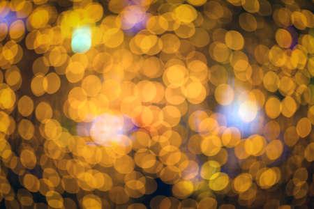 golden Glitter Christmas Bokeh light Background Archivio Fotografico