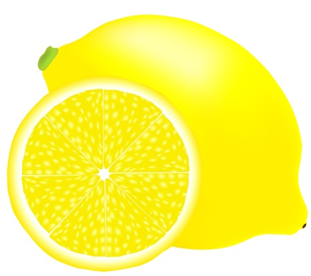 no background: lemon