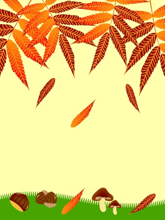 fall images: autumn frame Illustration