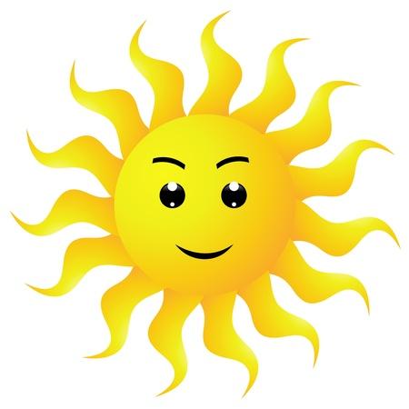 cute images: sun Illustration