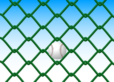 fastball: caught the ball to the fence Illustration