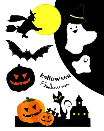 halloween illustrations Stock Vector - 10364630
