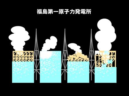 fukushima daiichi nuclear power plant Stock Vector - 10400678