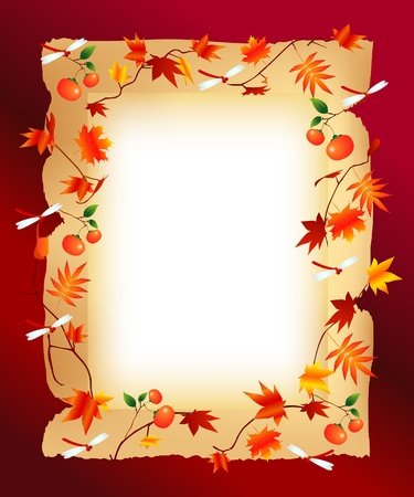 autumn frame Illustration