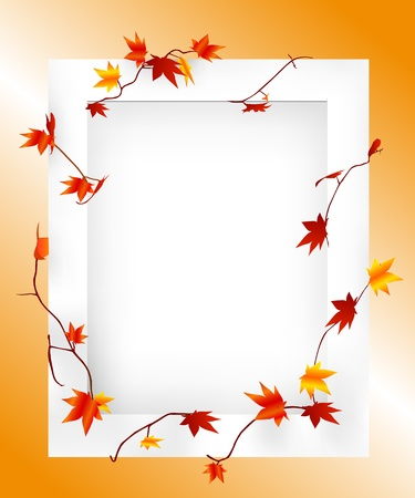 fall images: maple frame Illustration
