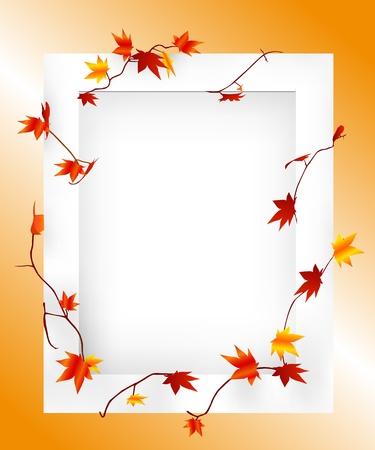 maple frame Vector