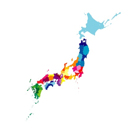 map of japan Stock Vector - 10587287