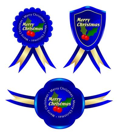 mon 12: blue christmas frame Illustration