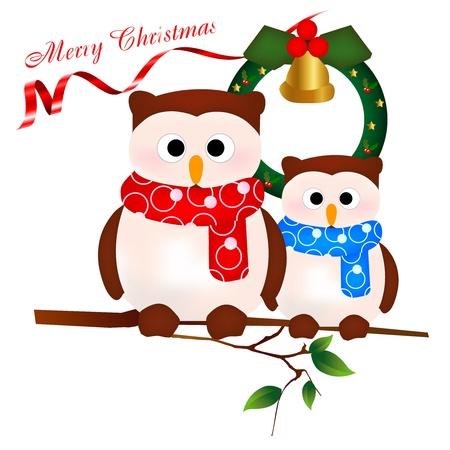 クリスマス フクロウ 写真素材 - 10960352