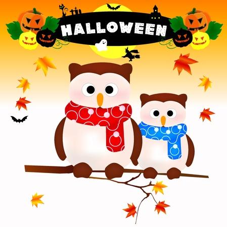 halloween owl Stock Vector - 10960353