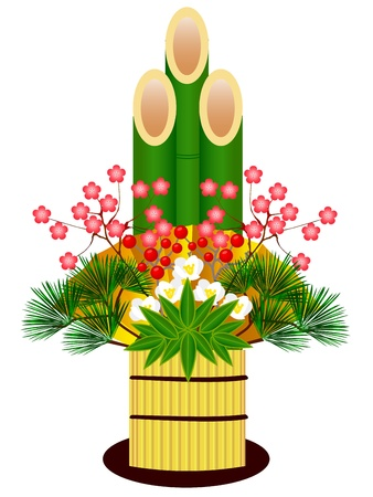 kadomatsu: Pine decoration Illustration