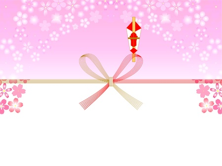 The cherry Noshi Vector