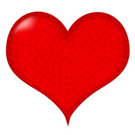 Heart of the cherry  イラスト・ベクター素材