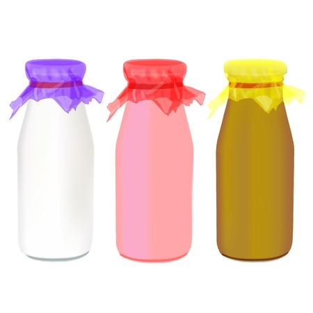 milk bottle: milk