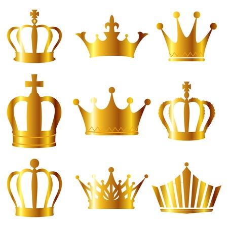왕: 왕관 일러스트