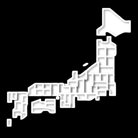 kanto: japan Illustration