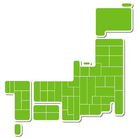 kyushu: japan map