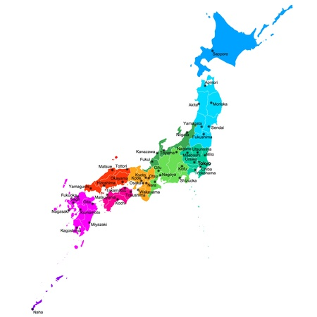 Area Map Of Japan Royalty Free Cliparts Vectors And Stock