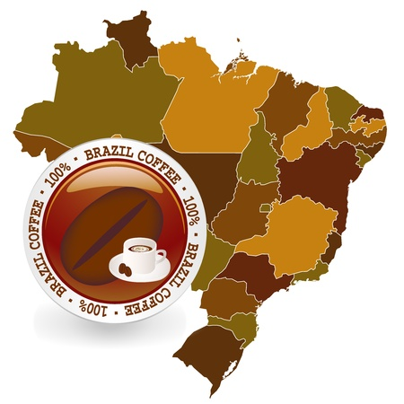Brazil coffee Vector