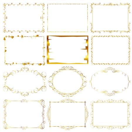 gold frame Illustration