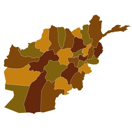 afghanistan': Map of Afghanistan