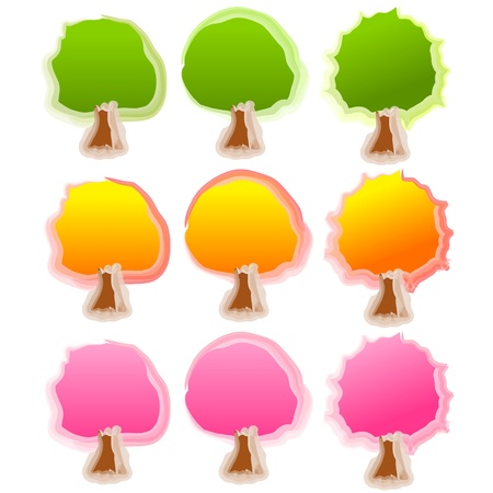 cherry tree: Cherry tree Illustration