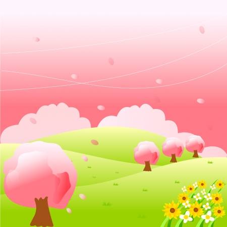Cherry tree Stock Vector - 14198006