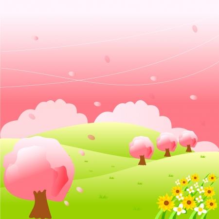 Cherry tree Stock Vector - 14198006