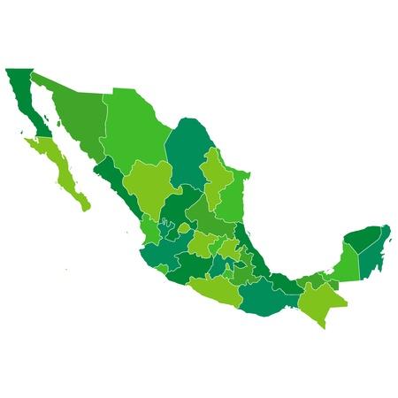 mexiko karte: Mexiko Illustration