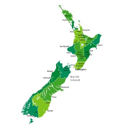 ニュージーランド  イラスト・ベクター素材
