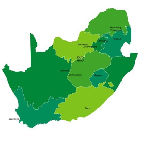 mapa de africa: Sud�frica Vectores