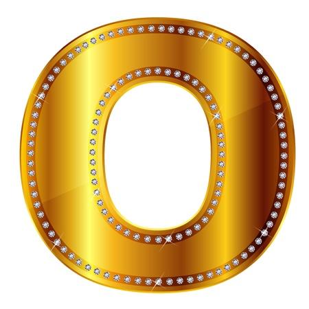 gold letter: O Illustration