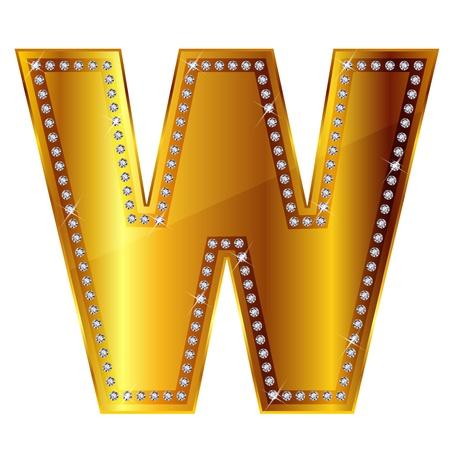 gold alphabet: W
