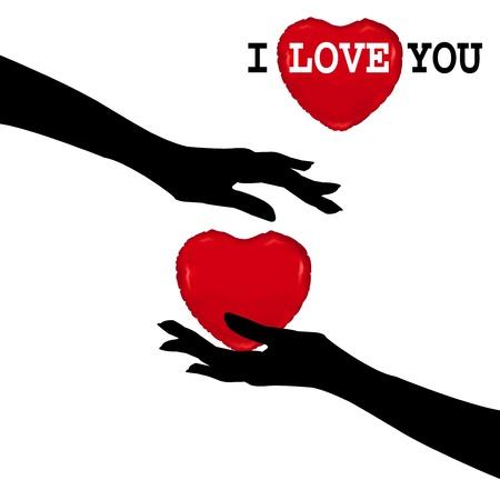 corazon en la mano: amor Vectores