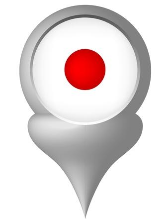 nomination: Bandera japonesa Vectores