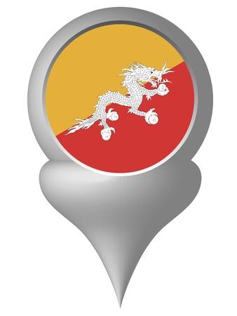 bhutan: Bhutan Stock Illustratie