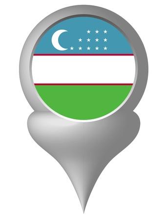 oezbekistan: Oezbekistan Stock Illustratie