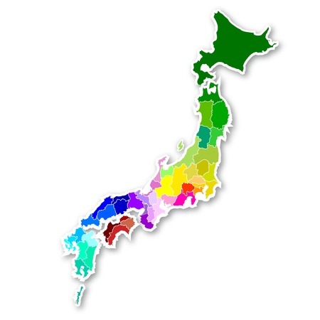 Map of Japan Stock Vector - 15755142