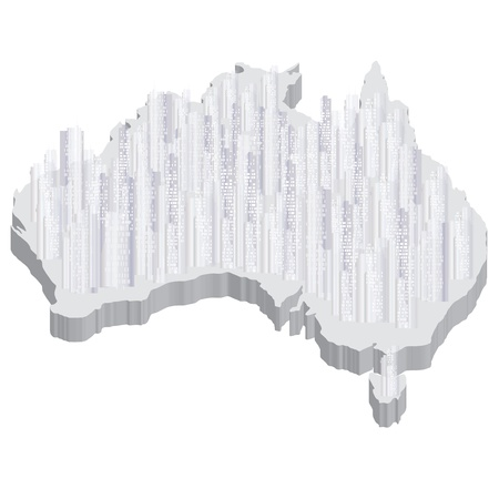 he is no background: australia Illustration