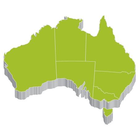 map of australia: australia Illustration